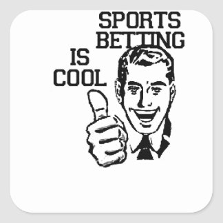 Sports Betting is Cool!!  Degenerate Products Square Sticker