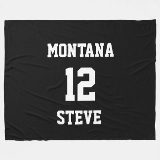 Sports Black White Colors Personalized Lrg Blanket Fleece Blanket