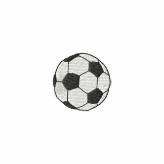 Sports Border Soccer Ball Embroidered Shirt
