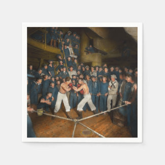 Sports - Boxing - The Second round 1896 Paper Napkin