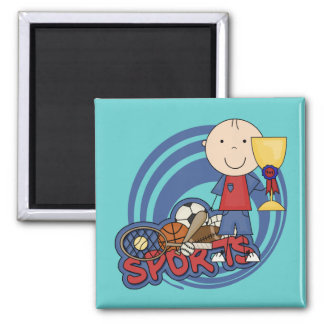 Sports Boy Champ T-shirts and Gifts Magnet
