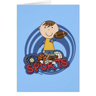 Sports Boy Football Tshirts and Gifts Card
