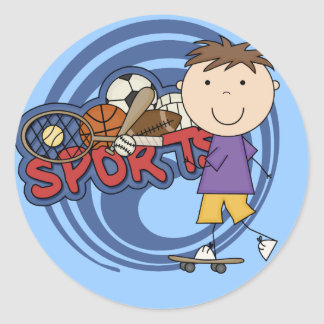 Sports Boy Skateboarder - Tshirts and Gifts Stickers