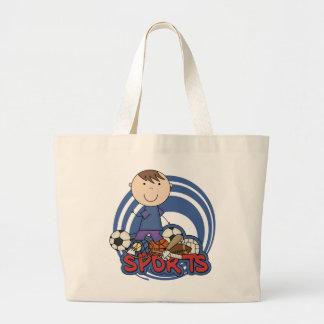 Sports Boy Soccer T-shirts and Gifts Jumbo Tote Bag