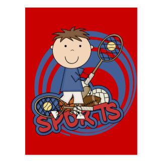 Sports Boy Tennis T-shirts and Gifts Postcard
