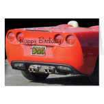 Sports Car any occasion card- customize Greeting Card