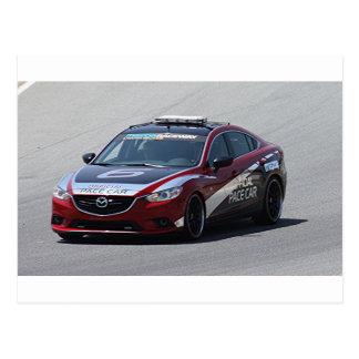 Sports Car Auto Racing Postcard