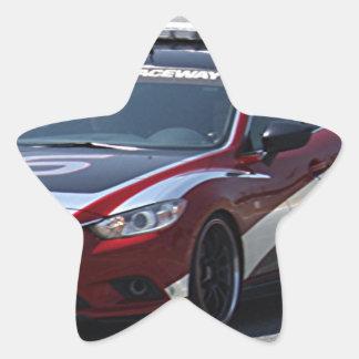 Sports Car Auto Racing Star Sticker