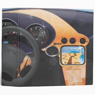 Sports Car Dashboard 3 Ring Binder