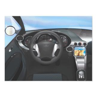 Sports Car Dashboard Card