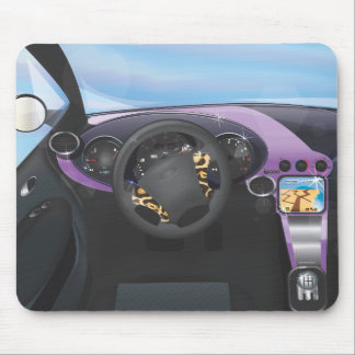Sports Car Dashboard Mouse Pad