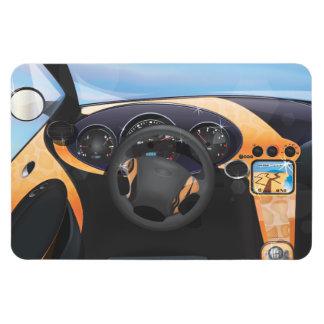 Sports Car Dashboard Rectangular Photo Magnet