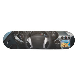 Sports Car Dashboard Skateboard