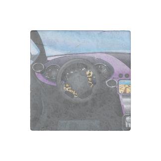 Sports Car Dashboard Stone Magnet