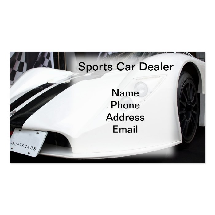 Sports Car Dealership Business Card