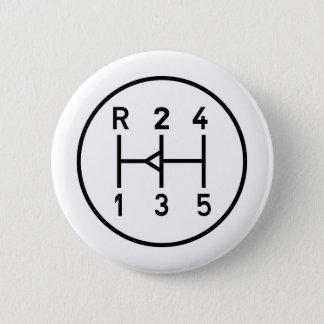 Sports car gear knob, transmission shift pattern button