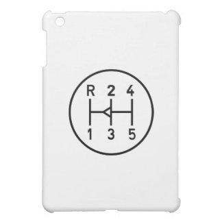 Sports car gear knob, transmission shift pattern case for the iPad mini