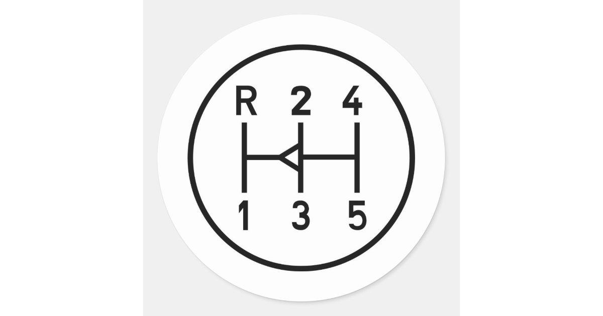 Gear Shift Pattern Decal Bahuma Sticker