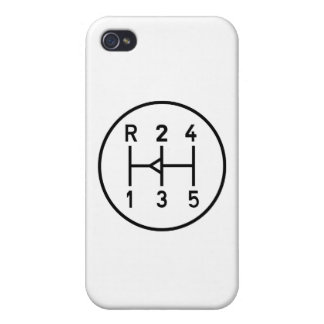 Sports car gear knob, transmission shift pattern iPhone 4 case