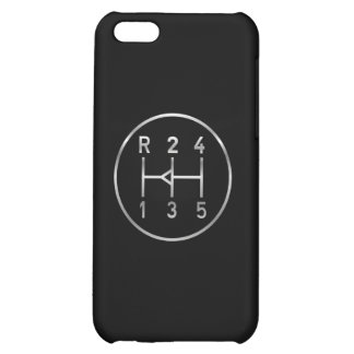 Sports car gear knob, transmission shift pattern case for iPhone 5C