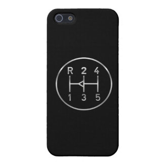 Sports car gear knob, transmission shift pattern iPhone SE/5/5s case