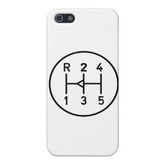 Sports car gear knob, transmission shift pattern iPhone SE/5/5s case