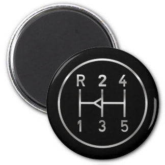 Sports car gear knob, transmission shift pattern magnet