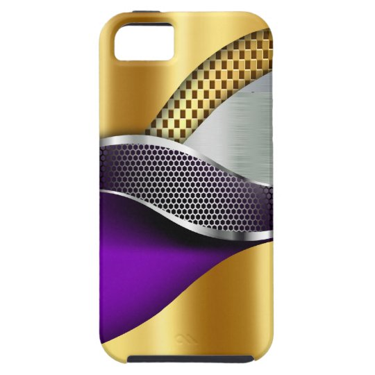 Sports Car Gold Silver Mesh purple iPhone SE/5/5s Case