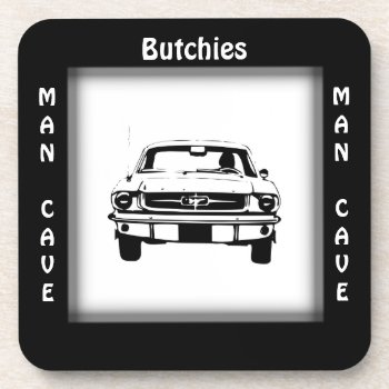Sports Car Man Cave CUSTOMIZE Coaster