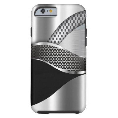 Sports Car Metallic Silver Mesh black Phone Case