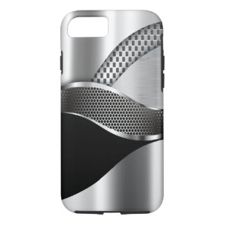 Sports Car Metallic Silver Mesh black iPhone 7 Case