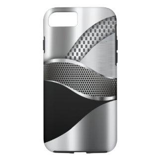Sports Car Metallic Silver Mesh black iPhone 7 Case