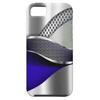Sports Car Metallic Silver Mesh blue iPhone SE/5/5s Case