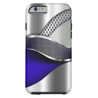 Sports Car Metallic Silver Mesh blue Tough iPhone 6 Case