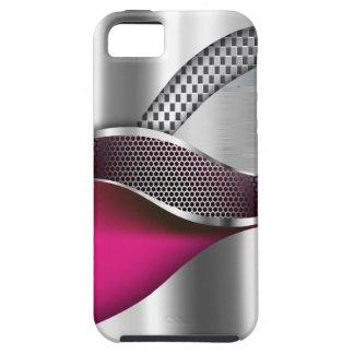 Sports Car Metallic Silver Mesh fuschia iPhone SE/5/5s Case