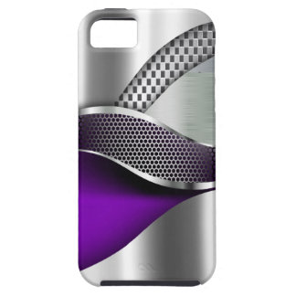 Sports Car Metallic Silver Mesh purple iPhone 5 Cases