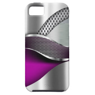 Sports Car Metallic Silver Mesh violet iPhone 5 Case