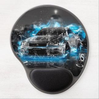 Sports car on blue flame Gel Mousepad
