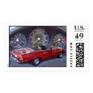 sports car postage stamps