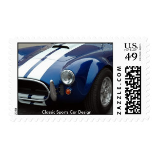 sports car postage stamp