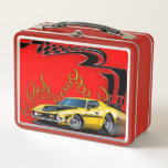 "Sports car racing metal lunch box<br><div class=""desc"">Sports car racing</div>"