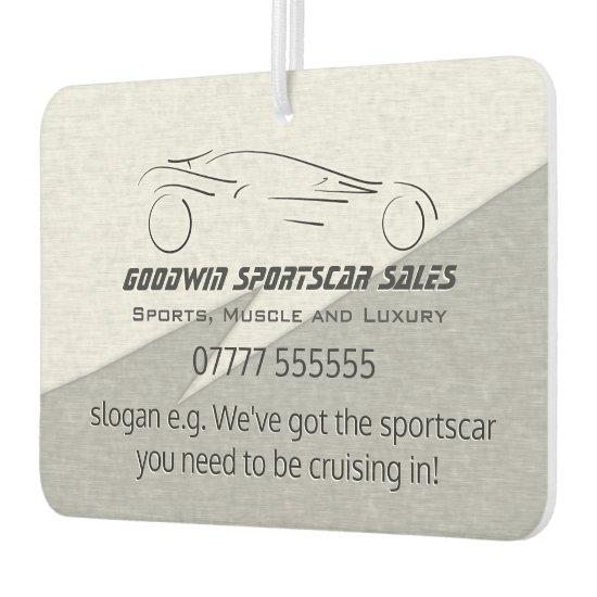 Sports Car Sales giveaways, silver sportscar Car Air Freshener