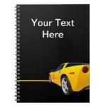 Sports Car Spiral Note Books