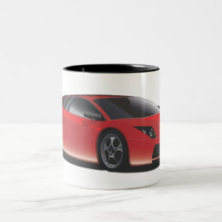 Sports Car Two-Tone Coffee Mug
