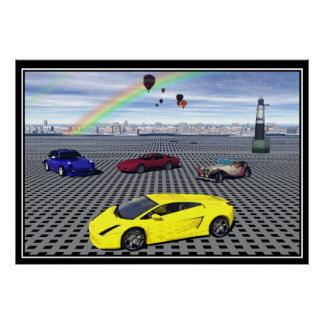 Sports Cars balloons Posters Poster