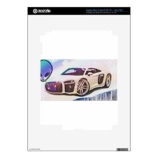 sports cars machine decal for iPad 3