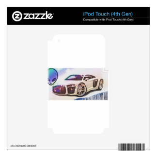 sports cars machine skins for iPod touch 4G