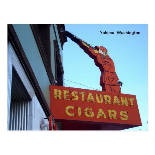 Sports Center Sign- Yakima, Washington Post Card