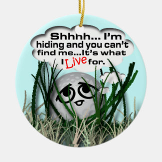 Sports Christmas Double-Sided Ceramic Round Christmas Ornament