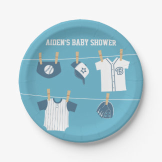 Sports Clothes Baseball Baby Shower Supplies 7 Inch Paper Plate